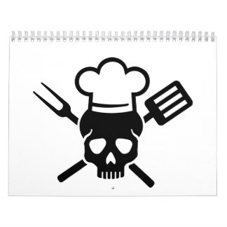 Cooking skull calendar
