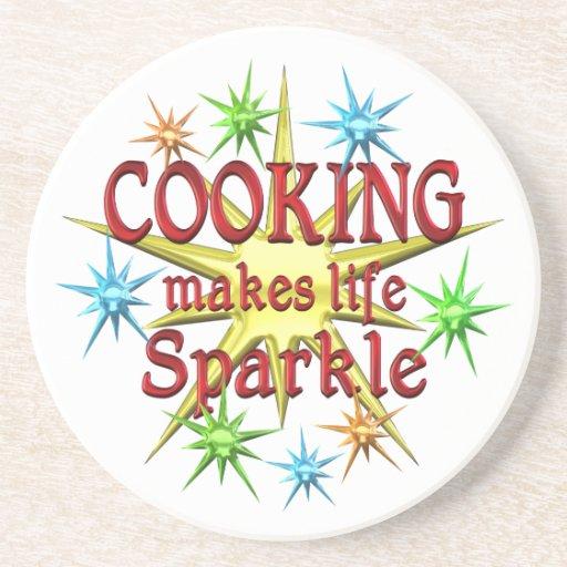 Cooking Sparkles Beverage Coaster