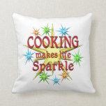 Cooking Sparkles Throw Pillows