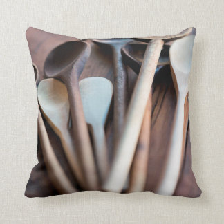Cooking spoons throw pillow