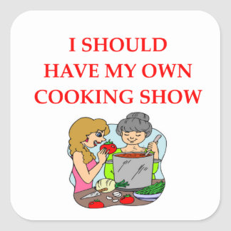 cooking square sticker