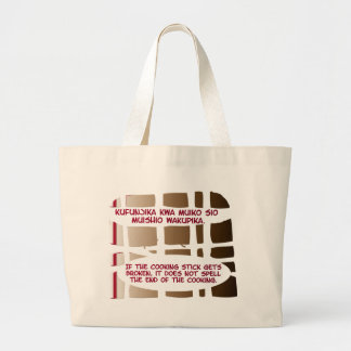 Cooking Stick Series Large Tote Bag