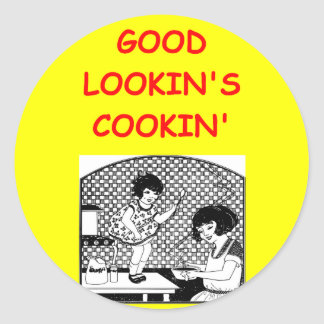 COOKING ROUND STICKERS