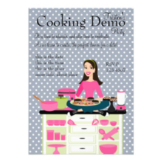 Cooking Teacher Invitation