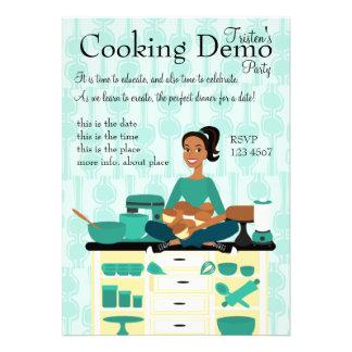 Cooking Teacher Invites