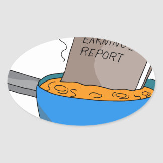 Cooking The Books Cartoon Oval Sticker