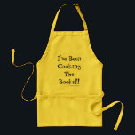 """Cooking The Books Joke Accountant Retirement Quote Adult Apron<br><div class=""""desc"""">Retire in style with this witty accountant apron.</div>"""