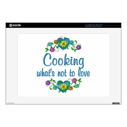 Cooking to Love Decals For Laptops
