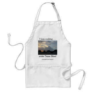 Cooking Under Texas Skies Adult Apron
