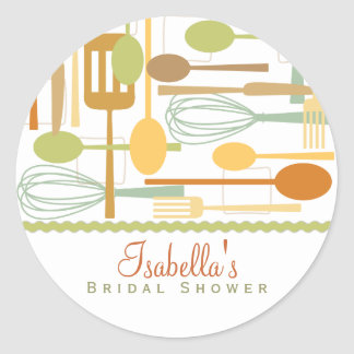 Cooking Utensils Kitchen Shower Favor Sticker