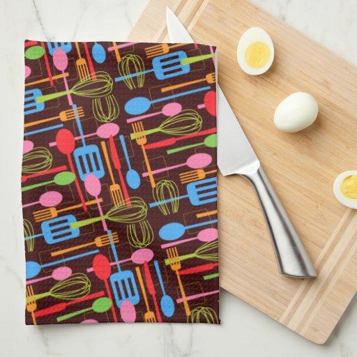 Cooking Utensils Kitchen Towel in Brights