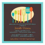 Cooking Utensils Stock the Kitchen Bridal Shower Announcement