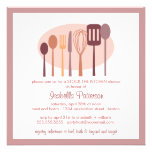 Cooking Utensils Stock the Kitchen Bridal Shower Personalized Invitations