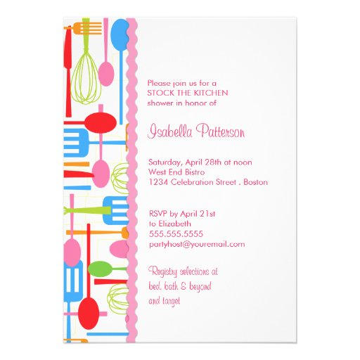 ... Stock the Kitchen Bridal Shower Custom Invitations from Zazzle.com