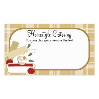 Cooking vegetarian vegetable lasagna food busin... business card