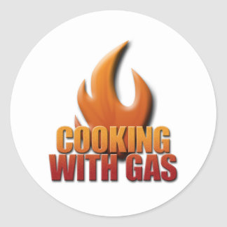 Cooking With Gas Classic Round Sticker