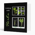 Cooking with Herbs Vinyl Binder