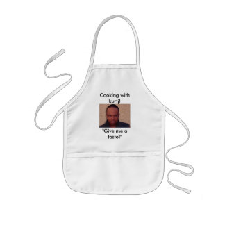 "Cooking with kurtj!, ""Give me a taste!"" Kids' Apron"