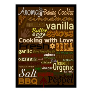 Cooking with Love WordArt™ Poster