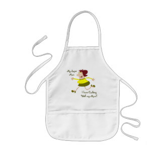 Cooking with Mom Kids Apron Template
