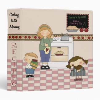 Cooking With Mommy Recipe Notebook Binder