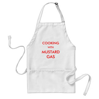 COOKING, WITH, MUSTARD, GAS APRON