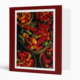 Cooking With Peppers - Recipe Book 3 Ring Binders