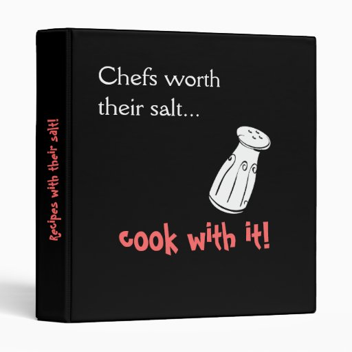 Cooking with Salts (the good stuff!) Binder