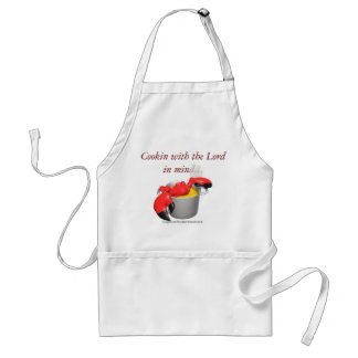 Cooking with The Lord in mind Christian Adult Apron