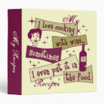 """Cooking With Wine 1.5"""" Recipe Binder"""