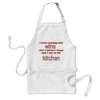 Cooking with wine adult apron