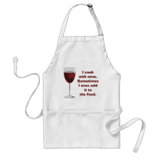 Cooking with wine - apron