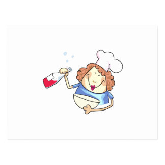 Cooking With Wine Postcard