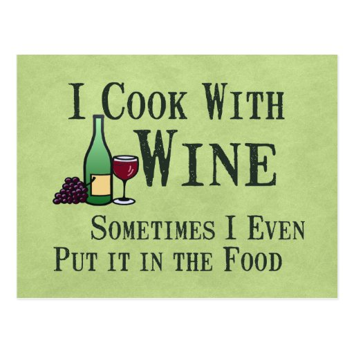Cooking with Wine Postcards