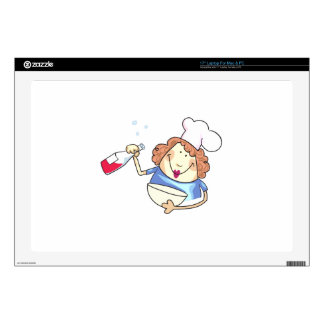 Cooking With Wine Decal For Laptop