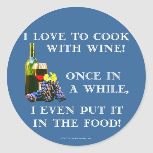 Cooking with Wine Stickers