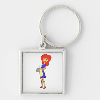 cooking woman Keychain