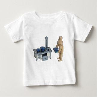 CookingRetroStoveSpeckledPots042014.png Baby T-Shirt