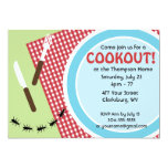 Cookout de encargo del patio trasero anuncio personalizado