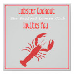 Cookout de la langosta invitación 13,3 cm x 13,3cm