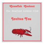 Cookout de los pescados del buche invitaciones personalizada