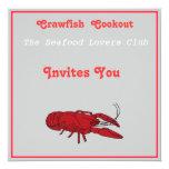 Cookout de los pescados del buche invitación 13,3 cm x 13,3cm