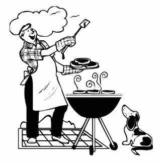 Cookout del dibujo animado con el perro esculturas fotográficas