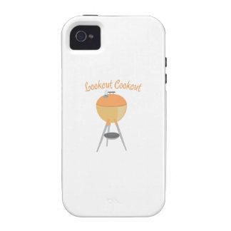 Cookout del puesto de observación vibe iPhone 4 fundas