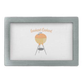 Cookout del puesto de observación hebilla cinturón rectangular