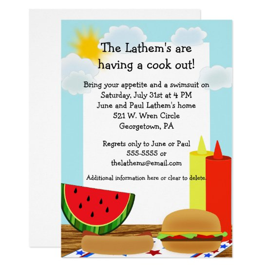 Cookout Fun Invitation