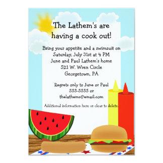 """Cookout Fun Invitation 4.5"""" X 6.25"""" Invitation Card"""