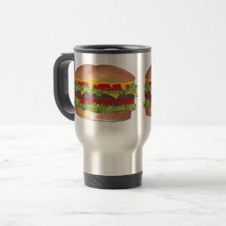 Cookout Hamburger Burger Cheeseburger Fast Food Travel Mug