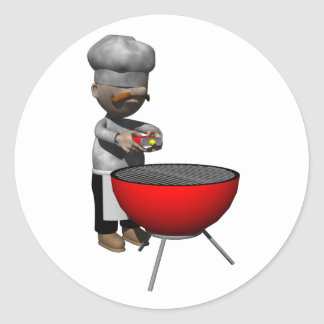 Cookout Image Classic Round Sticker