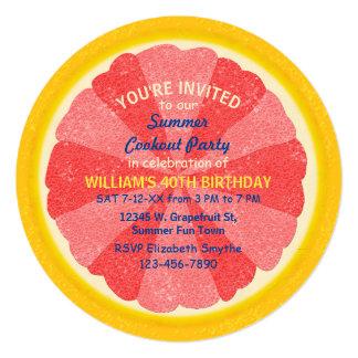 """Cookout o cumpleaños del fiesta del verano de la invitación 5.25"""" x 5.25"""""""